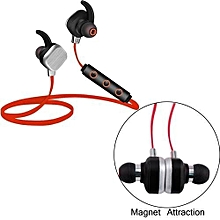 IP55 Bluetooth Stereo Wireless in-Ear Earbuds with Mic For Running(Red)