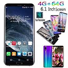 4GB+64GB Touch Screen 6.1 Inch Android 8.1 Smartphone Dual-SIM  Bluetooth GPS Mobile Phone Black