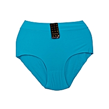 Blue Seamless Fancy Cotton All Weather Ladies Panty