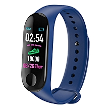 M3 0.96 inches TFT Color Screen Smart Bracelet IP67 Waterproof, Support Call Reminder /Heart Rate Monitoring /Blood Pressure Monitoring /Sleep Monitoring /Weather Forecast (Blue)
