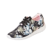 Casual Active Shoes - Black Floral With Pink Interior