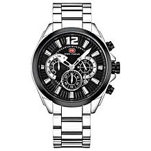 Fashion Stainless Steel Men Sport Watch 3ATM Water-resistant Quartz Luminous Wristwatch Man Relogio Musculino Chronograph