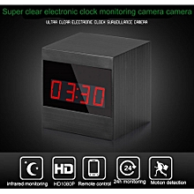Wireless IR Night Vision WiFi Digital Clock Hidden Spy Camera Network IP 1080P WiFi Home Security Camera Alarm Clock Surveillance Mini DVR By HT