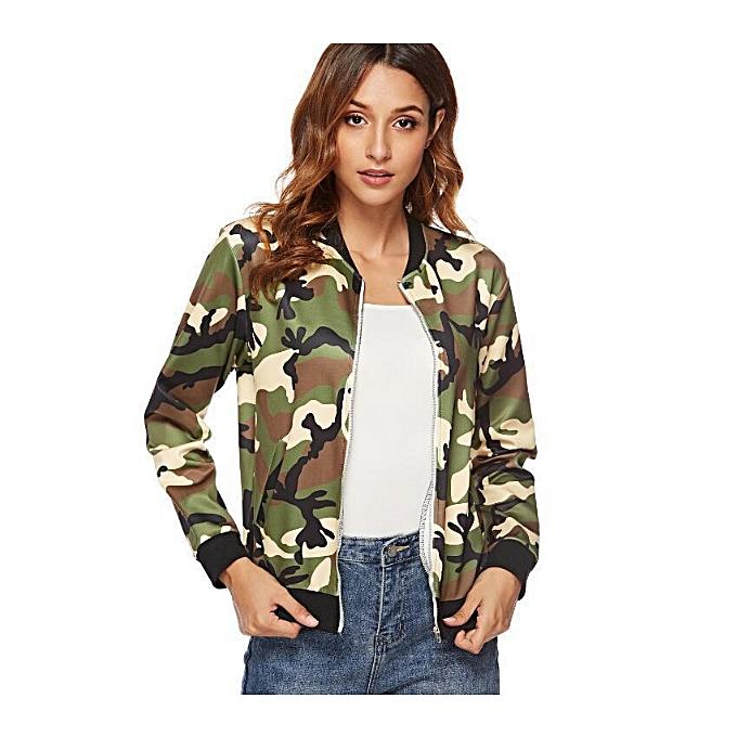fa86cc342d3 Generic Jacket Hot Style New Women s Jacket Camouflage Dress Fashion ...
