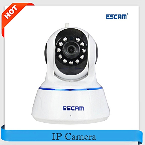 ESCAM QF002 WiFi IP Camera 720P Mini Security Camera P2P Night Vision  Two-Way Audio CCTV Support Android IOS for Home Company DJL