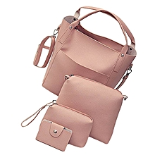 Women Four Set Handbag Shoulder Bags Four Pieces Tote Bag Crossbody Wallet