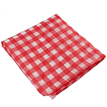 Red Gingham Plastic Temporary Disposable Check Table Cover Cloth Outdoor Picnic