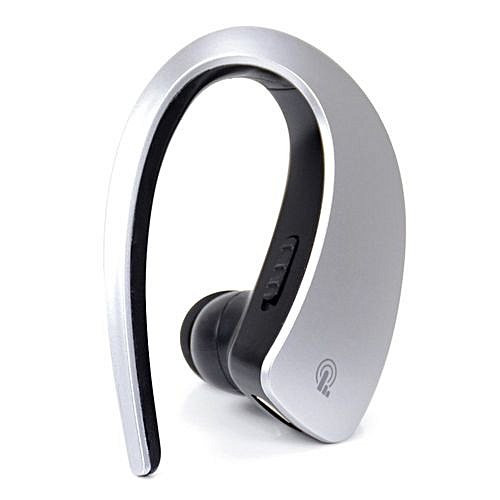 Smart Wireless Sport Earphone Q2 Bluetooth Headset Sports StereoEar-Hook  Earphones Voice Control Hand Free Call With Mic (Color:Silver)