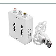 HDMI to RCA HDMI to AV 1080P AV2HDMI Mini HDMI to AV Converter