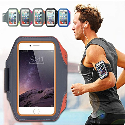 new style dd068 2b12b For Iphone 6/6s Sports Running Jogging Gym Exercise Armband Arm Case Touch  Cover Gray-orange