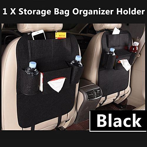 Car Seat Organizer Bags Black