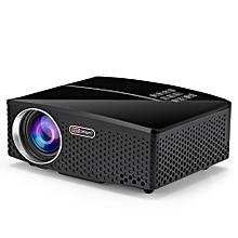 GP80 LED 1800 Lumens HD Mini Portable Projector Supprot 1080P USB HDMI - BLACK