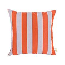 Outdoor Pillow - 45cm x 45cm - Orange & White