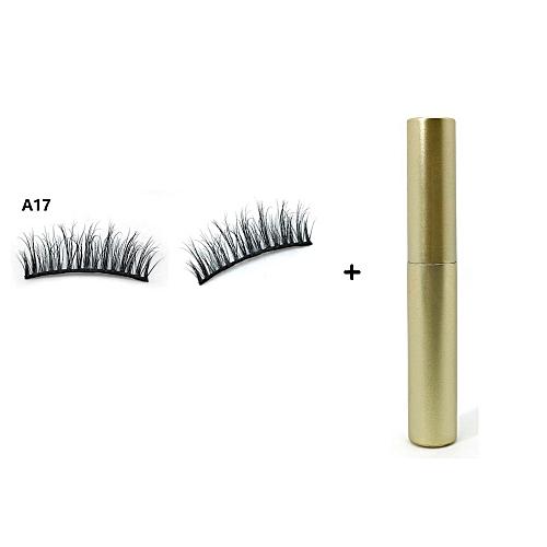 6ed047bd3c5 Generic New Magnetic Liquid Eyeliner with Five Magnetic False Eyelashes  Waterproof Easy to Wear Magnetic Eyelashes Set(Clear)