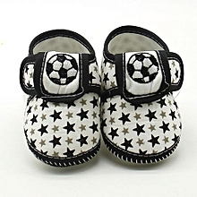 bluerdream-Newborn Infant Baby Star Girls Boys Soft Sole Prewalker Warm Casual Flats Shoes- Black