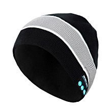 Unisex Soft Warm Bluetooth Music Hat Knitted Hat With Bluetooth Headphone-Array