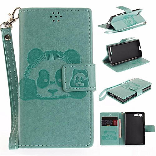 sale retailer da7a6 0f77b PU Leather Panda Wallet Case Cover for Sony Xperia X Compact