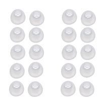 10 Pairs Medium Size Clear Silicone Replacement Ear Buds Tips For Sony Phillips-White