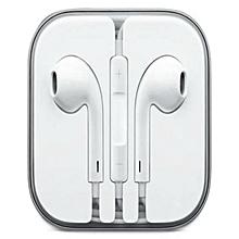 Earphones For 5/ 5S/ 6 / 6S / 6 Plus - White