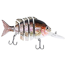 PROBEROS 10CM 6 Part Long Lip Weever Shape Crankbait Hook Lure Fishing Bait For Outdoor Activity-COLORMIX