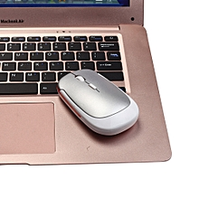Slim 2.4GHz Wireless Mouse USB 2.0 Receiver For Laptop PC-White
