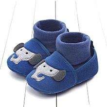 bluerdream-Lovely Newborn Toddler First Walkers Baby Round Toe Flats Soft Slippers Shoes - Blue