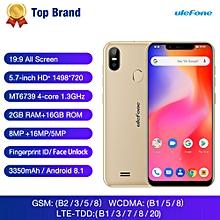 S10 Pro 5.7-inch (2GB, 16GB ROM) Android 8.1, 16MP&5MP, 3350mAh, Dual Sim 4G LTE Smartphone - Gold