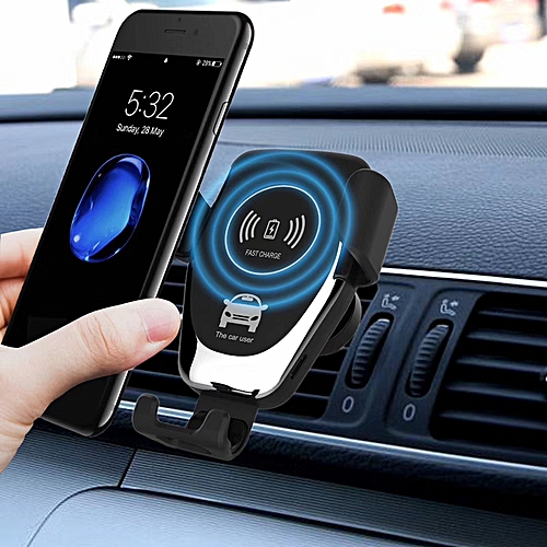 uk availability ad6eb b1bea Car Mount Qi Wireless Charger For iPhone X 8 Plus Charger Air Vent & Magnet  Mount Wireless Charging Car Holder For Samsung S9 S8