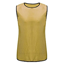 Football Training Bibs Team Vests Soccer Basketball Sports Jerseys Adult Clothes Gold