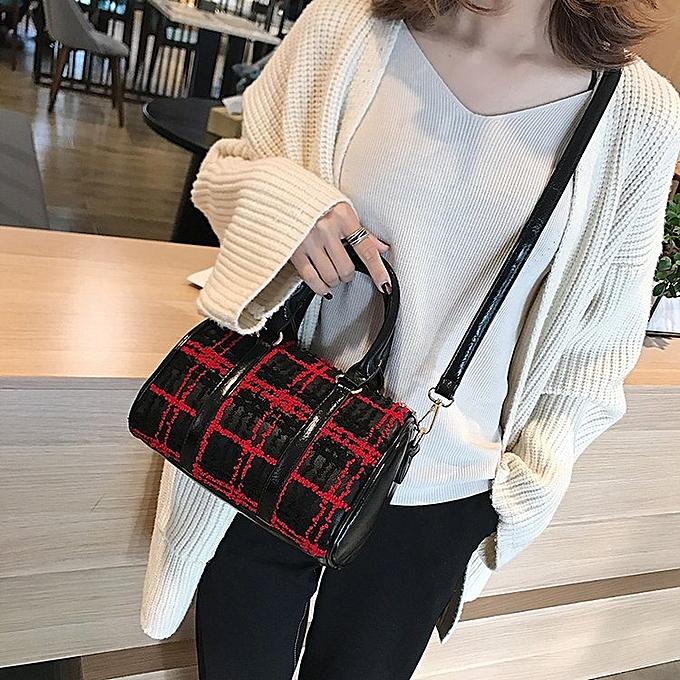 4cc000f153 Generic Casual PU Shoulder Bag Ladies Handbag Messenger Bag (Red ...