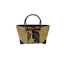 Organic Criss Cross Handbag - Light Brown