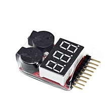 1S-8S Lithium Battery Voltage Tester Low Voltage Alarm Buzzer with Battery Power Display Module