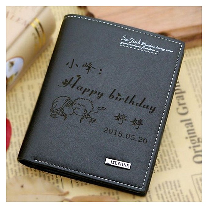 Fashion Black VerticalBoyfriend Birthday Gift To Send Male Husband Creative Practical DIY Lettering Daddy Chinese Valentines