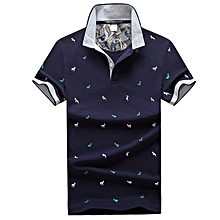 Men'S Polo Short Sleeve Casual Plus Size Brand Polo Shirts for Men high quality-blue