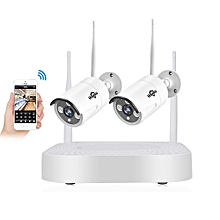Hiseeu 2CH 960P Wireless CCTV System 1.3 Outdoor IP Camera NVR Recorder Video Security Camera System 2HB611-1.3 million US