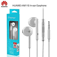 Huawei Honor AM115 Earphone With Mic For Xiaomi Huawei Universal phone Retail box High Bass quality Free Shipping