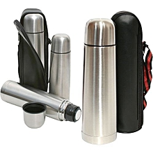 Food-Grade Stainless Steel Hot & Cold Vacuum Flask Tea Coffee Drinks Food Thermos with Carry Pouch Camping Vacuum Bottle 0.5L Portable flask