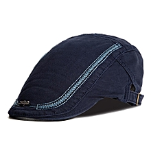 Mens Cotton Embroidery Painter Berets Caps Casual Outdoor Visor Forward Hat
