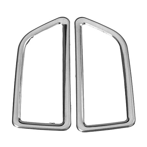 2 Pcs Stainless Steel Dashboard Air Vents Bright Circle Decorative Frame  Trim Cover For Skoda/Octavia 2015