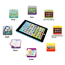 Kids Computer Tablet Chinese English Learning Study Machine Toy Blue