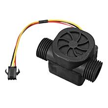 G1/2 1-30L/min DC5V Water Flow Sensor Fluid Flowmeter Counter Switch for Arduino Black