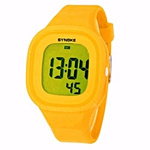 Fashion LED Digital Watch Sport Women Watch Top Brand Luxury Wrist Watches Female Clock(Yellow)