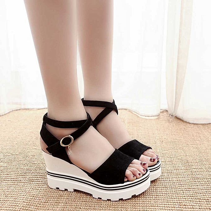 fe6843506b ALEX most popular best rating lowest price Fashion Women Summer Pumps Platform  Sandals Roman Wedges Casual