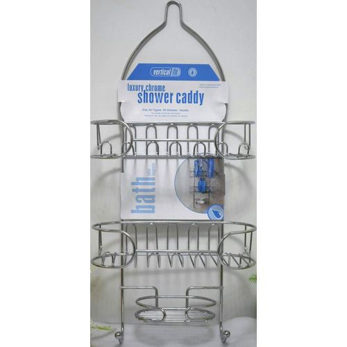 luxury chrome shower caddy bathroom accessories organizer shampoo bottles soap holder silver