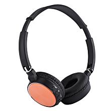 BT - 815 Wireless Stereo Bluetooth V3.0 Headphone with FM Radio TF Card Slot-SWEET ORANGE