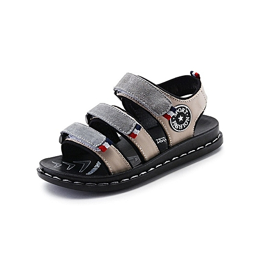 810144048735 Generic Leather Open Grey Boys  Sandals with rubber soles.   Best ...