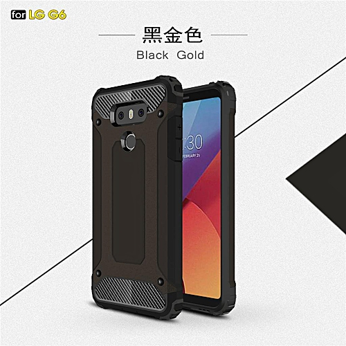 size 40 df629 c90af Fashion Tough Shockproof Armor Style Rugged Armor phone Case Cover Skin  Shell For LG G6 -Black