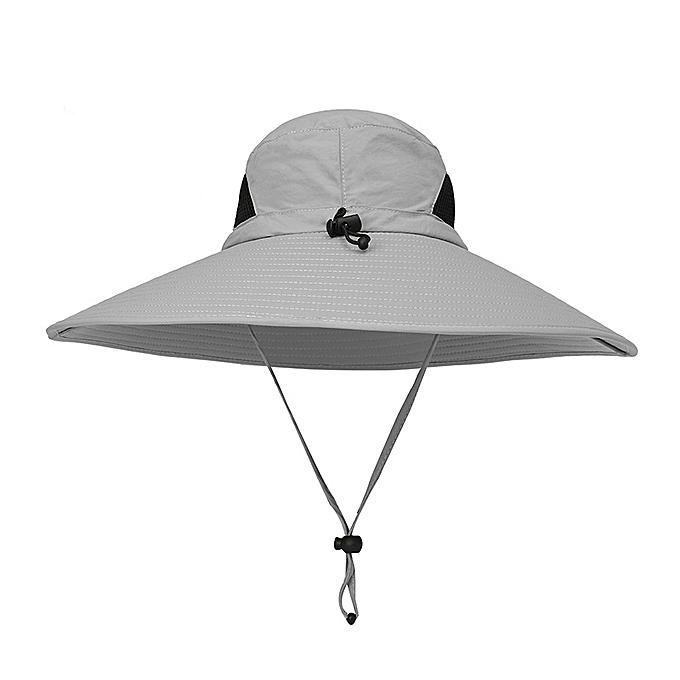 Men Plus Size Sunscreen Wide Brim UV Protection Fishing Hat Outdoor Summer  Sun Hat ... f1e29c01456