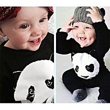 Refined Fashion Boy's Cotton Joint Explosive Payment Panda Kazakhstan Cartoon Long Sleeved Climbing Suit