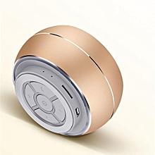 R9 Mini Wireless Metal Bluetooth Speaker LED Light Subwoofer Speakers Support TF FM Mic For Phone(Gold)
